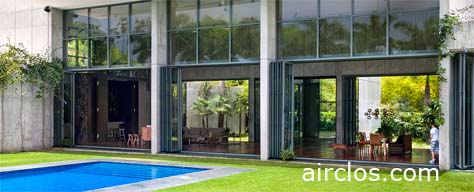 Airclos – Glass curtain walls and accordion windows