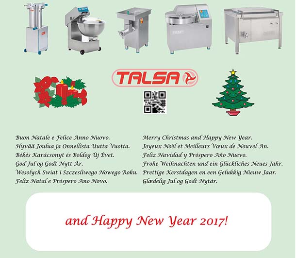 the talsa team wants to wish a happy holiday season to all of our providers and service providers clients and of course to our faithful distributors