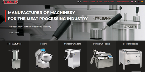 Manufacturer of machinery for the meat processing industry