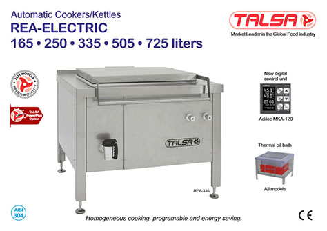 Automatic cookers kettles Talsa